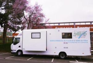 Camion mobile prévention santé travail SMTVO