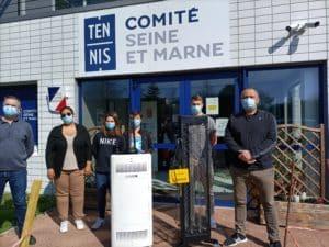 Le Comité de Tennis de Seine et Marne s'équipe de solutions UV-C pour la désinfection de l'air et des surfaces de ses espaces communs.